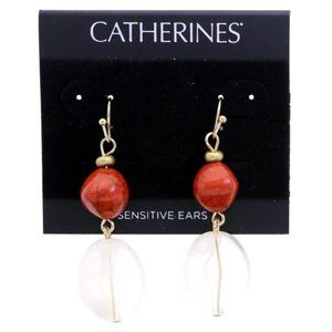 3/$20 Catherines orange and marble dangles